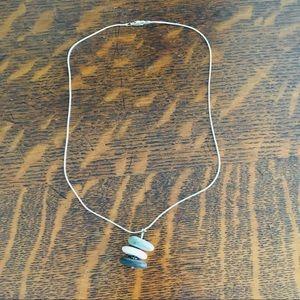Jewelry - Beach Pebble Pendant in SS Chain